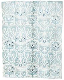 Sari Čistá Hedvábí Koberec 153X200 Moderní Ručně Tkaný Bílý/Krém/Světle Modrý (Hedvábí, Indie)