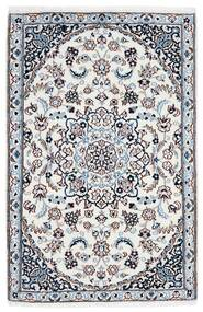 Nain 9La Koberec 90X137 Orientální Ručně Tkaný Bílý/Krém/Světle Modrý (Vlna/Hedvábí, Persie/Írán)
