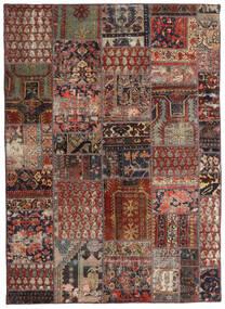 Patchwork - Persien/Iran Koberec 144X201 Moderní Ručně Tkaný Tmavě Červená/Tmavě Hnědá/Světle Hnědá (Vlna, Persie/Írán)