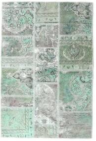 Patchwork - Persien/Iran Koberec 106X158 Moderní Ručně Tkaný Světle Šedá/Pastelově Zelená (Vlna, Persie/Írán)