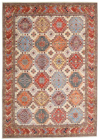 Kazak Koberec 244X342 Orientální Ručně Tkaný Světle Hnědá/Béžová (Vlna, Afghánistán)