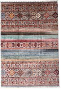 Shabargan Koberec 204X297 Moderní Ručně Tkaný Tmavě Hnědá/Světle Fialový (Vlna, Afghánistán)