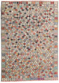 Kelim Afghán Old Style Koberec 172X240 Orientální Ruční Tkaní Světle Šedá/Tmavošedý (Vlna, Afghánistán)