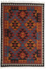 Kelim Isparta Koberec 160X230 Moderní Ruční Tkaní Tmavě Červená/Černá (Vlna, Indie)
