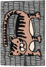 Cool Cat - Šedá/Růžová Koberec 120X180 Moderní Tmavošedý/Světle Šedá (Vlna, Indie)