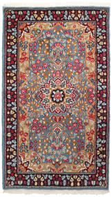 Kerman Koberec 90X155 Orientální Ručně Tkaný Tmavě Červená/Světle Šedá (Vlna, Persie/Írán)