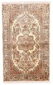 Kashmir Čistá Hedvábí Koberec 93X155 Orientální Ručně Tkaný Béžová/Hnědá/Světle Růžová (Hedvábí, Indie)