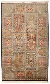 Kashmir Čistá Hedvábí Koberec 94X157 Orientální Ručně Tkaný Světle Hnědá/Béžová (Hedvábí, Indie)