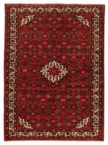 Hosseinabad Koberec 147X200 Orientální Ručně Tkaný Tmavě Červená/Červenožlutá (Vlna, Persie/Írán)