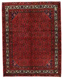 Hosseinabad Koberec 157X200 Orientální Ručně Tkaný Tmavě Červená/Tmavě Hnědá (Vlna, Persie/Írán)