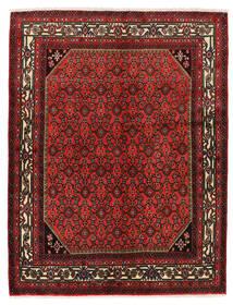 Hosseinabad Koberec 150X193 Orientální Ručně Tkaný Tmavě Červená/Tmavě Hnědá (Vlna, Persie/Írán)