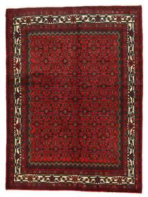 Hosseinabad Koberec 155X210 Orientální Ručně Tkaný Tmavě Červená/Tmavě Hnědá (Vlna, Persie/Írán)