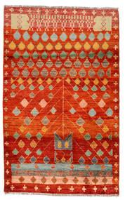 Moroccan Berber - Afghanistan Koberec 115X186 Moderní Ručně Tkaný Červenožlutá/Hnědá (Vlna, Afghánistán)