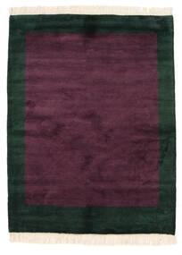 Gabbeh Indické Koberec 145X189 Moderní Ručně Tkaný Tmavě Fialová/Černá (Vlna, Indie)