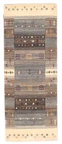 Loribaf Loom Koberec 76X200 Moderní Ručně Tkaný Běhoun Světle Šedá/Hnědá (Vlna, Indie)