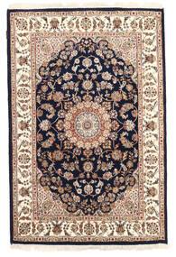 Nain Indické Koberec 120X183 Orientální Ručně Tkaný Béžová/Tmavě Fialová ( Indie)