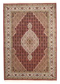 Tabriz Royal Koberec 142X205 Orientální Ručně Tkaný Tmavě Hnědá/Světle Hnědá ( Indie)