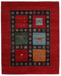 Gabbeh Loribaft Koberec 202X254 Moderní Ručně Tkaný Tmavě Červená/Černá (Vlna, Indie)
