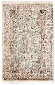 Kashmir Čistá Hedvábí Koberec 84X126 Orientální Ručně Tkaný Hnědá/Světle Hnědá (Hedvábí, Indie)