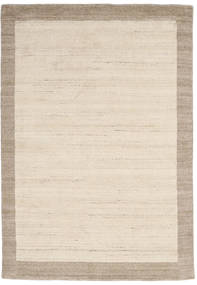 Handloom Frame - Natural/Sand Koberec 160X230 Moderní Béžová/Světle Šedá (Vlna, Indie)