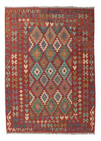 Kelim Afghán Old Style Koberec 177X242 Orientální Ruční Tkaní Tmavě Červená/Tmavošedý (Vlna, Afghánistán)
