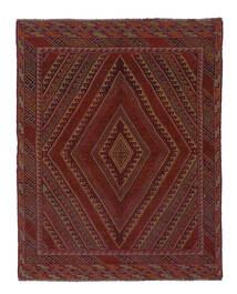 Kelim Golbarjasta Koberec 143X185 Orientální Ruční Tkaní Černá/Bílý/Krém (Vlna, Afghánistán)