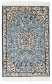 Nain 9La Koberec 80X117 Orientální Ručně Tkaný Černá/Světle Šedá (Vlna/Hedvábí, Persie/Írán)