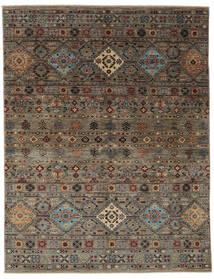 Shabargan Koberec 155X199 Moderní Ručně Tkaný Tmavě Hnědá/Černá (Vlna, Afghánistán)