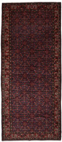 Hosseinabad Koberec 165X414 Orientální Ručně Tkaný Běhoun Černá (Vlna, Persie/Írán)