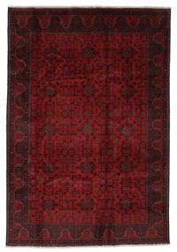 Afghán Khal Mohammadi Koberec 201X291 Orientální Ručně Tkaný Černá/Tmavě Červená (Vlna, Afghánistán)