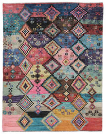 Moroccan Berber - Afghanistan Koberec 151X192 Moderní Ručně Tkaný Tmavě Fialová/Černá (Vlna, Afghánistán)
