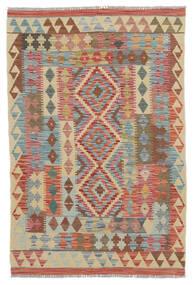 Kelim Afghán Old Style Koberec 100X150 Orientální Ruční Tkaní Tmavě Hnědá/Béžová (Vlna, Afghánistán)
